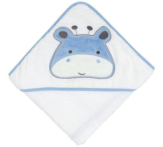 OSUŠKA S KAPUCÍ - bílá/modrá, Basics, textil (78/78cm) - My Baby Lou