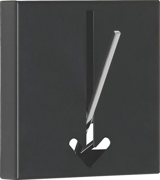 HAKEN in Schwarz - Schwarz, Design, Metall (16,4/17/2,8cm)