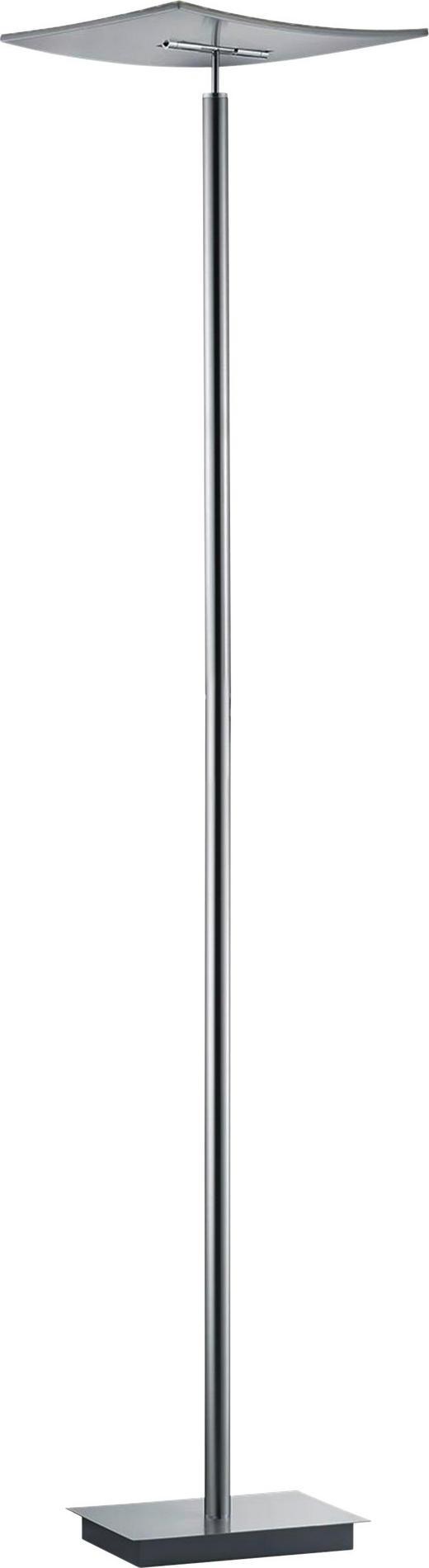 LED-STEHLEUCHTE - Chromfarben/Nickelfarben, LIFESTYLE, Kunststoff/Metall (182cm)