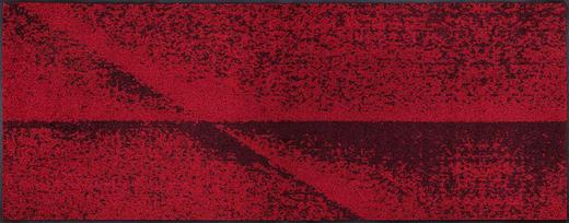 FUßMATTE 75/190 cm Graphik Rot - Rot, Basics, Kunststoff/Textil (75/190cm) - Esposa