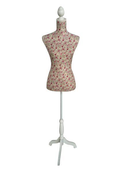 SCHNEIDERPUPPE 165 cm - vit/rosa, Basics, metall/trä (165cm) - Ambia Home