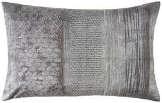 KISSENHÜLLE Grau, Silberfarben  - Silberfarben/Grau, Design, Textil (35cm) - Ambiente
