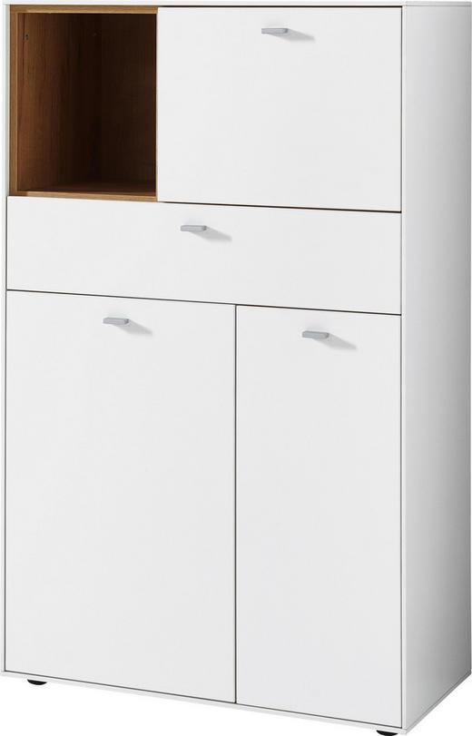 HIGHBOARD 77/127/44 cm - Eichefarben/Alufarben, Design, Holzwerkstoff/Metall (77/127/44cm)