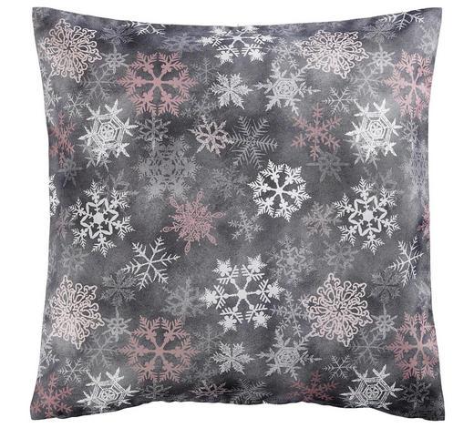 KISSENHÜLLE Grau, Rosa, Weiß 50/50 cm - Rosa/Weiß, KONVENTIONELL, Textil (50/50cm) - X-Mas