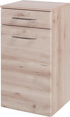 UNTERSCHRANK Buchefarben - Chromfarben/Buchefarben, KONVENTIONELL, Holzwerkstoff/Metall (40/79/35cm) - Xora