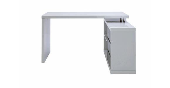 ECKSCHREIBTISCH - Weiß/Grau, Design, Holzwerkstoff (140/75/114,5cm) - Voleo