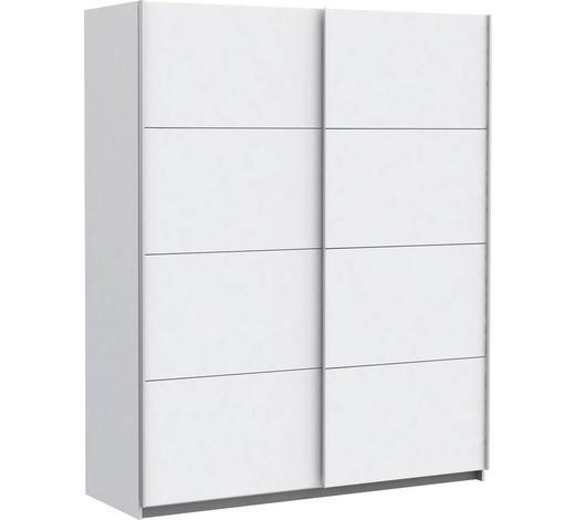 SCHWEBETÜRENSCHRANK 2-türig Weiß  - Silberfarben/Weiß, Design, Holzwerkstoff/Metall (170/210/61cm) - Ti`me