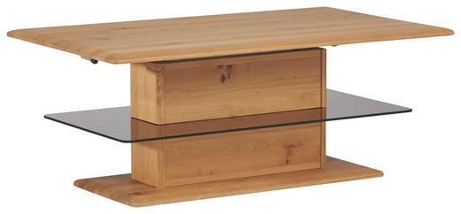 COUCHTISCH Wildeiche massiv rechteckig Eichefarben - Eichefarben, Design, Glas/Holz (120/49,5/68,5/70cm) - Escando Natürlich Wo