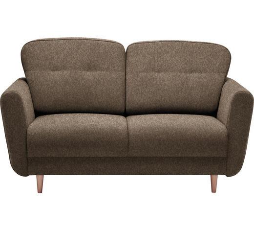 ZWEISITZER-SOFA in Textil Hellbraun - Hellbraun, Design, Holz/Textil (154/90/93cm) - Hom`in