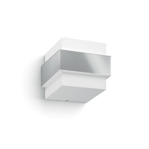 LED-AUßENLEUCHTE - Edelstahlfarben/Weiß, Design, Kunststoff/Metall (14,7/12,7/15,5cm) - PHILIPS