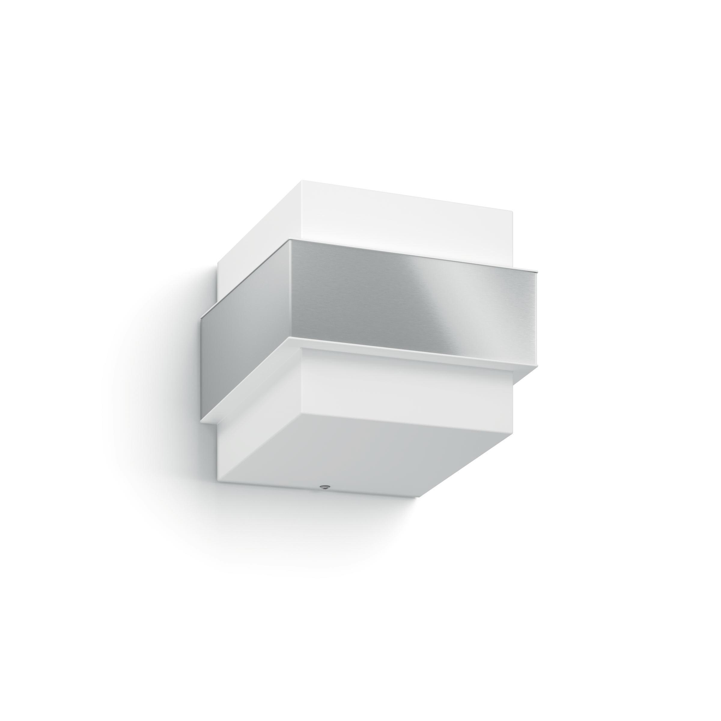 LED-AUßENLEUCHTE - Edelstahlfarben/Weiß, MODERN, Kunststoff/Metall (14,7/12,7/15,5cm) - PHILIPS