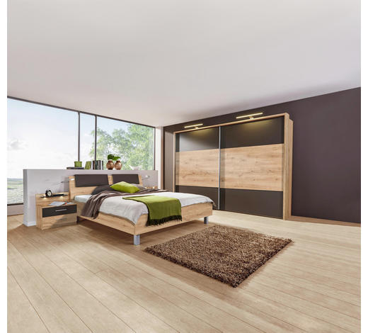 Schlafzimmer In Dunkelbraun Eichefarben Online Kaufen Xxxlutz