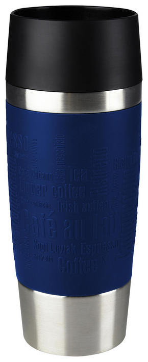 COFFEE-TO-GO-MUGG - blå/svart, Design, metall/plast (0,36l) - Tefal