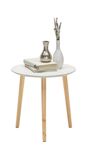 AVLASTNINGSBORD - vit/furufärgad, Design, trä/träbaserade material (40/40cm) - Carryhome