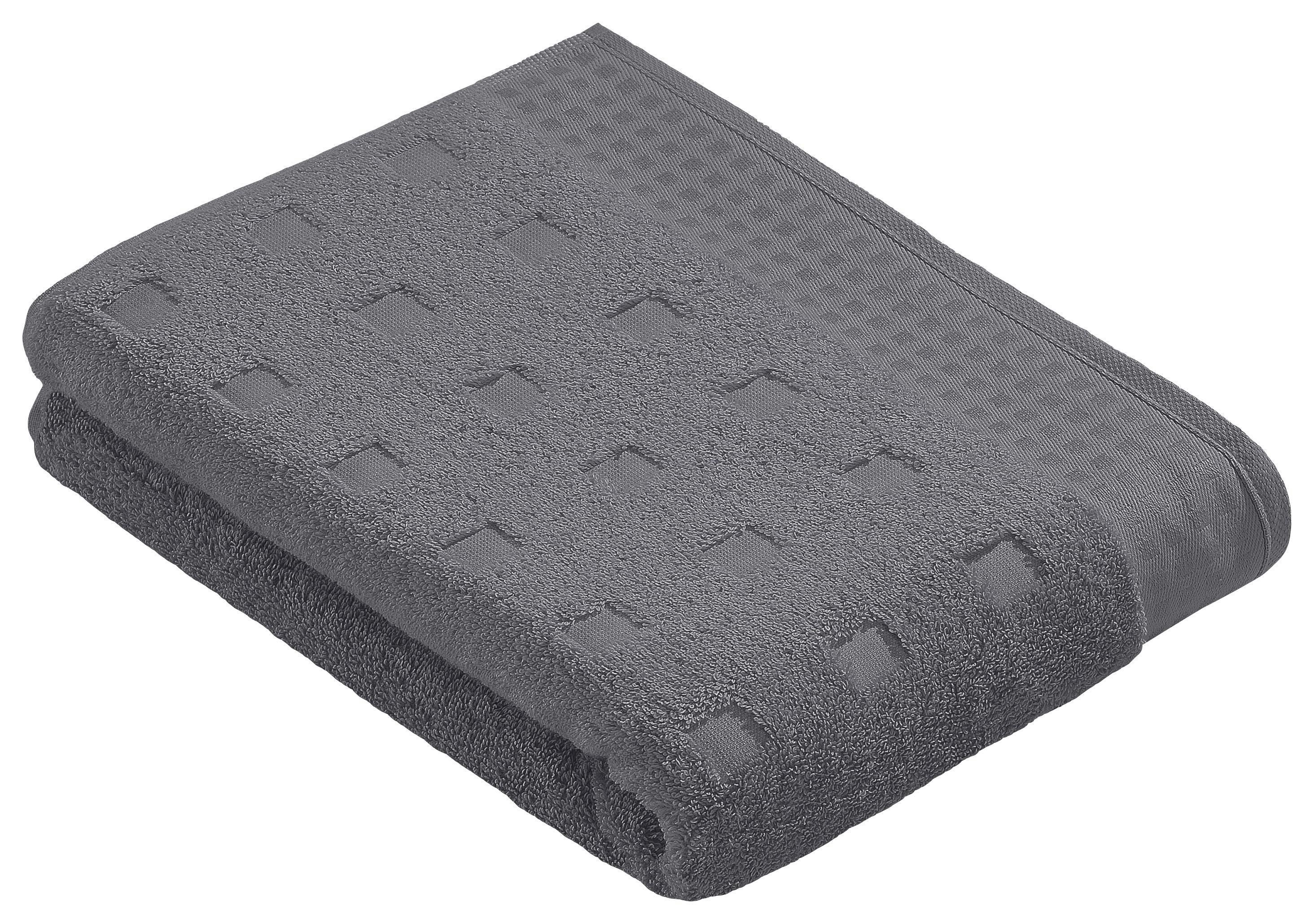 DUSCHTUCH 67/140 cm - Anthrazit, Textil (67/140cm) - VOSSEN