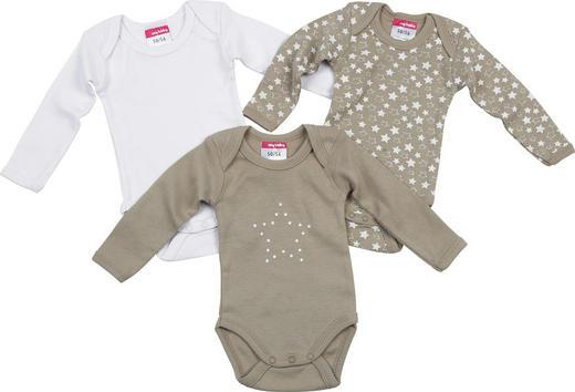 BABYBODY-SET - Taupe, Basics, Textil (74/80) - My Baby Lou