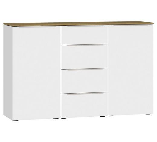 SIDEBOARD 135/87/43 cm - Edelstahlfarben/Eichefarben, Design, Holzwerkstoff/Kunststoff (135/87/43cm) - Jutzler