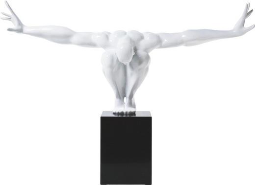 SKULPTUR - Schwarz/Weiß, Design, Glas/Stein (75/42/23cm) - Kare-Design