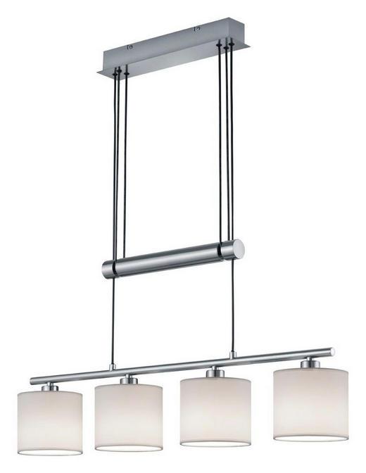 HÄNGELEUCHTE - Weiß/Nickelfarben, Design, Textil/Metall (77/95-150/13,5cm) - Novel