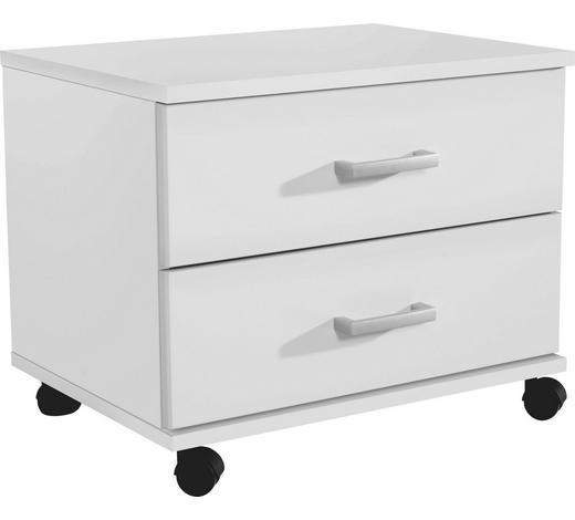 ROLLCONTAINER Weiß - Alufarben/Weiß, Design, Kunststoff (50/41/38cm) - Carryhome