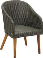 GARTENSESSEL - Grau/Teakfarben, Design, Holz/Kunststoff (63/54/84cm) - AMATIO