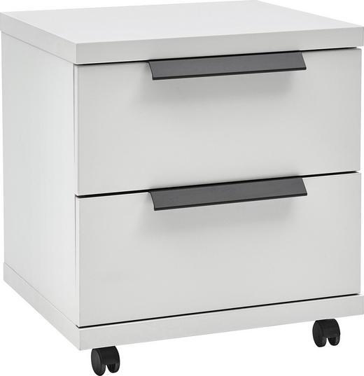 ROLLCONTAINER Weiß - Graphitfarben/Schwarz, KONVENTIONELL, Kunststoff/Metall (48/52/42cm) - Voleo
