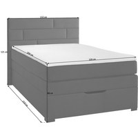 BOXSPRINGBETT 120 cm   x 200 cm   in Textil Dunkelbraun - Wengefarben/Dunkelbraun, KONVENTIONELL, Holz/Textil (120/200cm) - Carryhome