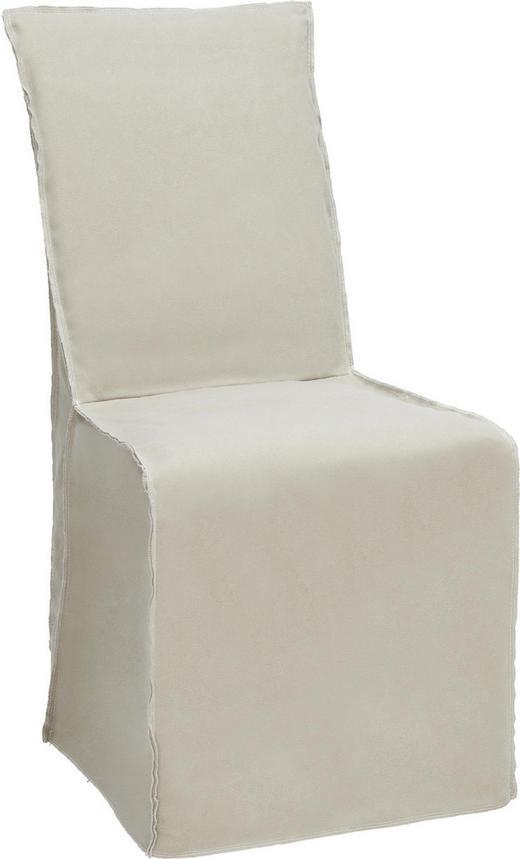 STUHL Buche massiv Beige - Beige, Trend, Holz/Textil (50/96/60cm) - Ambia Home