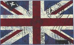 Webteppich Great Britain 100x160 cm - Blau/Rot, KONVENTIONELL, Textil (100/160cm) - Ombra