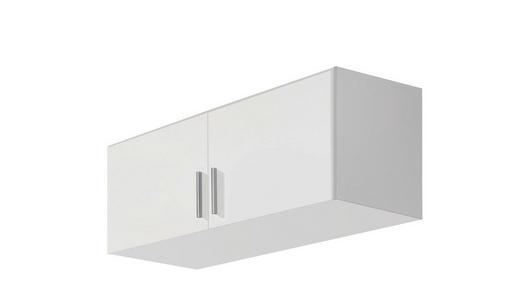 AUFSATZSCHRANK 91/39/54 cm Weiß - Alufarben/Weiß, Design, Kunststoff (91/39/54cm) - Carryhome
