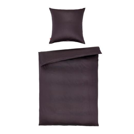 BETTWÄSCHE Makosatin Anthrazit 135/200 cm - Anthrazit, Basics, Textil (135/200cm) - Fleuresse