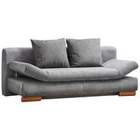 Schlafsofa in Grau Textil - Grau, Design, Holz/Textil (200/87/93cm) - Venda