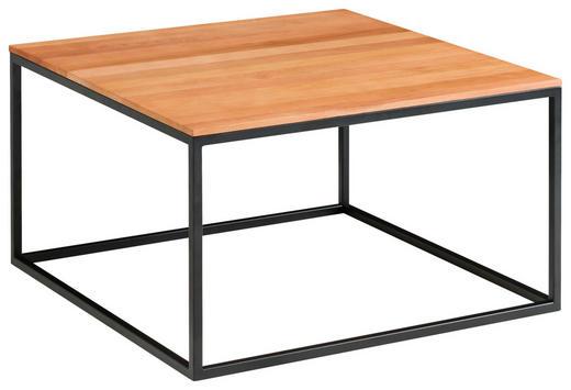 COUCHTISCH in Holz 65/65/37 cm - Buchefarben/Schwarz, Design, Holz/Metall (65/65/37cm) - Novel