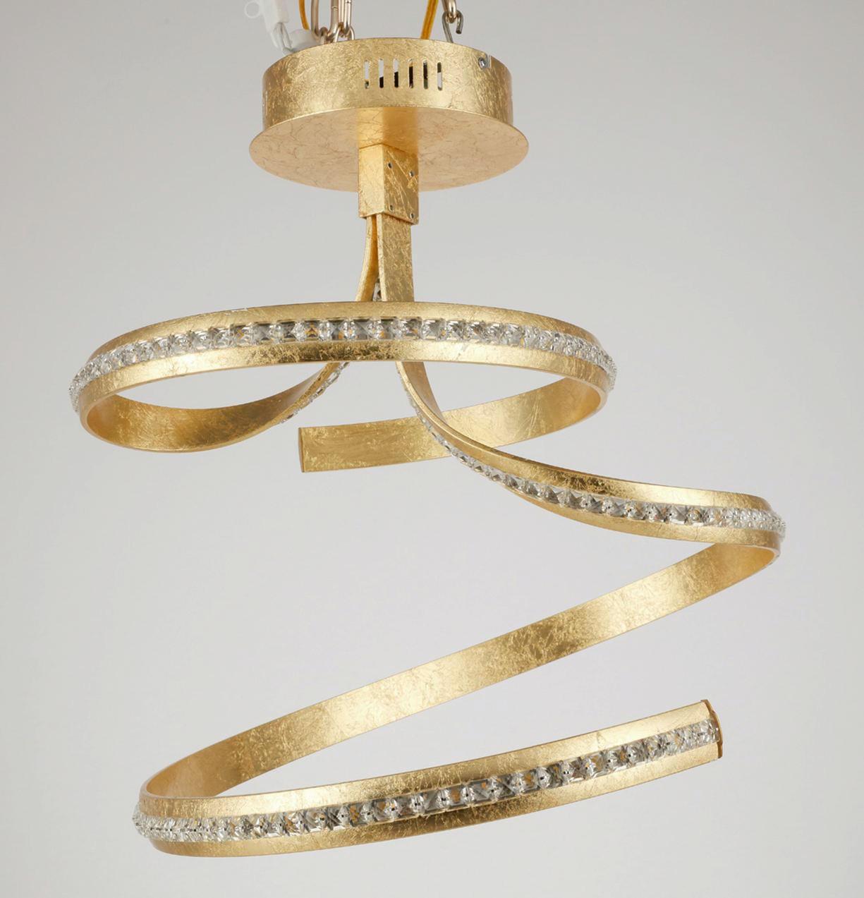 LED-DECKENLEUCHTE - Goldfarben, LIFESTYLE, Metall (53/43/57cm) - AMBIENTE