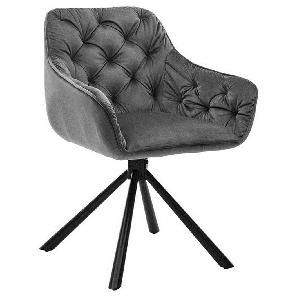 Livetastic Armlehnstuhl samt schwarz