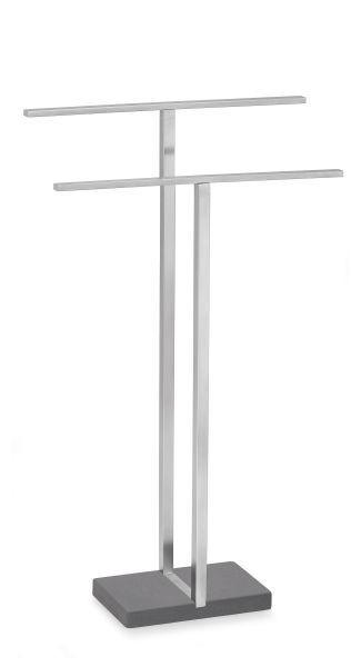 HANDTUCHHALTER - Basics, Stein/Metall (50/86/16cm) - Blomus