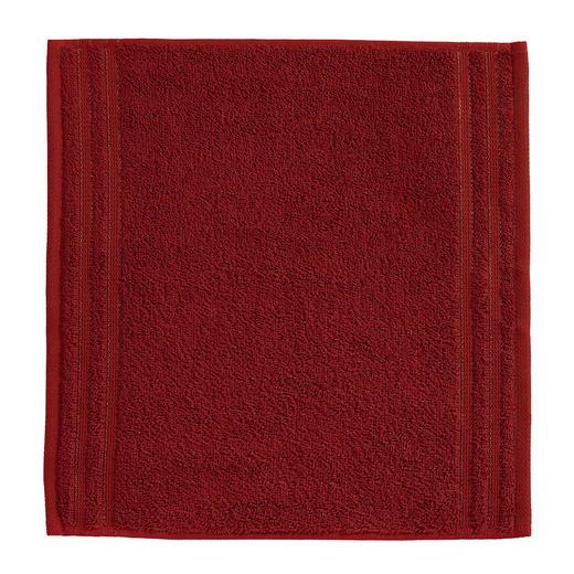 SEIFTUCH  Dunkelrot - Dunkelrot, Basics, Textil (30/30cm) - VOSSEN