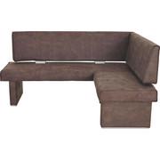 ECKBANK Braun   Hellgrau/Braun, KONVENTIONELL, Textil (182/142cm)