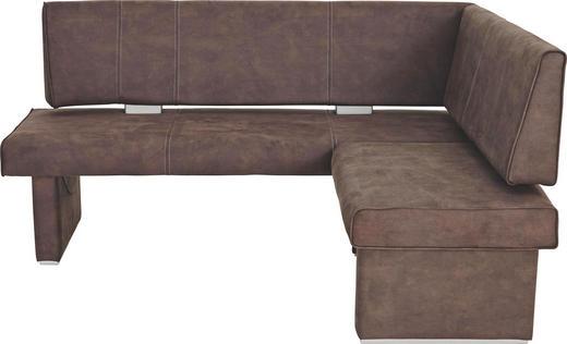 ECKBANK Braun - Hellgrau/Braun, KONVENTIONELL, Textil (182/142cm) - Valdera