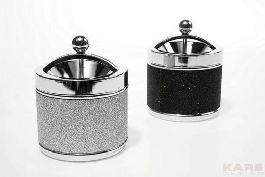 DREHASCHER - Schwarz/Weiß, LIFESTYLE, Metall (10/12/10cm) - Kare-Design