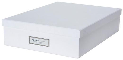BRIEFABLAGE - Weiß, Basics, Karton (35,5/8,5/35,5cm)