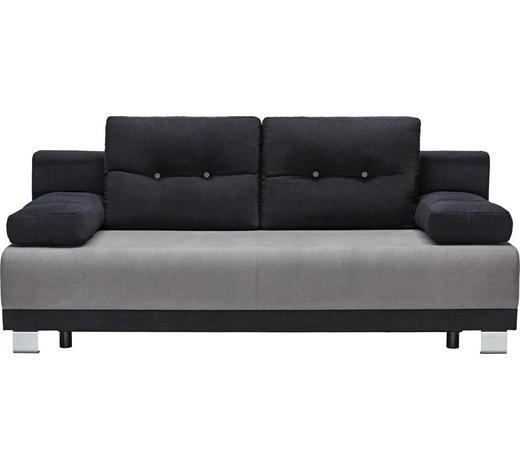 SCHLAFSOFA in Textil Grau, Schwarz  - Alufarben/Schwarz, Design, Kunststoff/Textil (200/84/94cm) - Carryhome