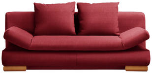 SCHLAFSOFA in Textil Rot  - Rot, Design, Holz/Textil (200/87/93cm) - Venda