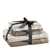 FROTTIERSET 4-teilig  - Beige/Braun, Design, Textil - Vossen