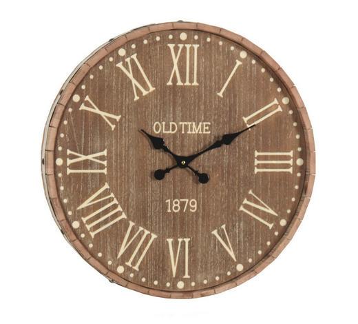 WANDUHR 60 cm - Eschefarben/Naturfarben, Basics, Holz/Metall (60cm) - Ambia Home