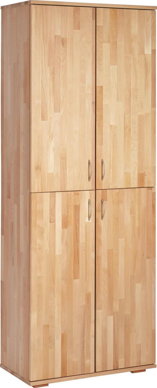 AKTENSCHRANK Kernbuche massiv Buchefarben - Buchefarben, Design, Holz (73/189/38cm) - Carryhome