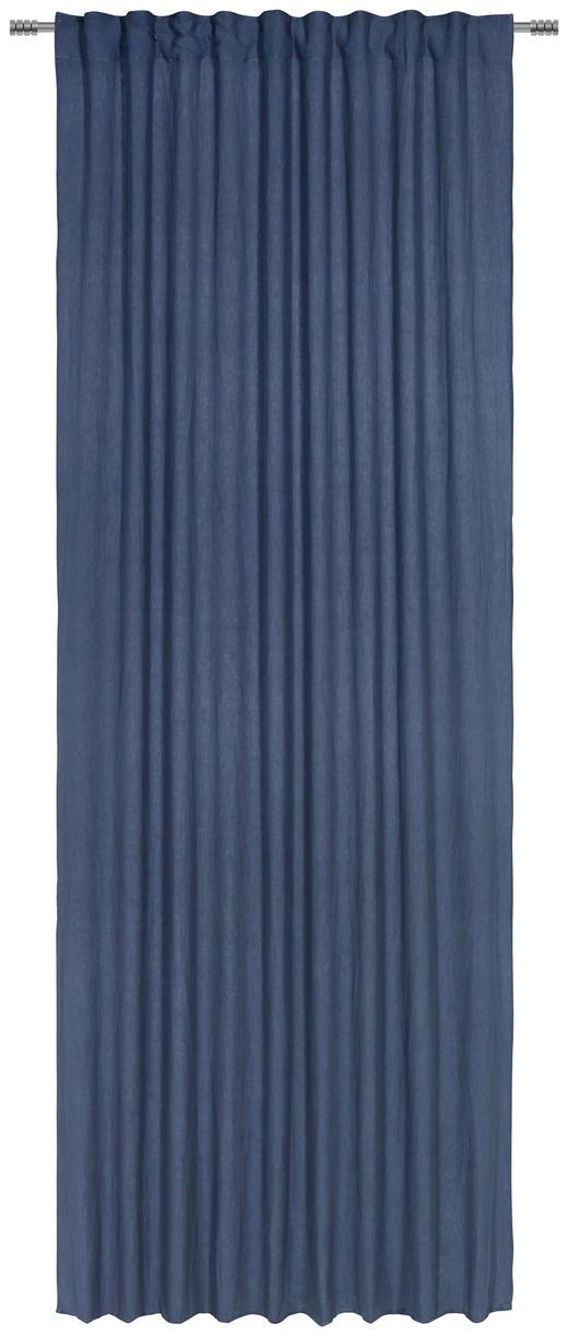 FERTIGVORHANG  halbtransparent - Petrol, Natur, Textil (140/280/cm) - Esposa