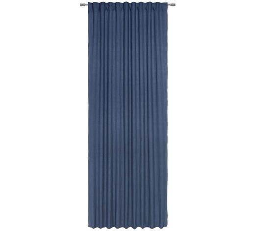 FERTIGVORHANG halbtransparent - Petrol, Natur, Textil (140/280cm) - Esposa