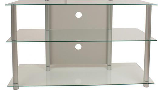 PHONOTISCH Glas, Metall Klar, Silberfarben - Klar/Silberfarben, KONVENTIONELL, Glas/Metall (95/70/42cm)