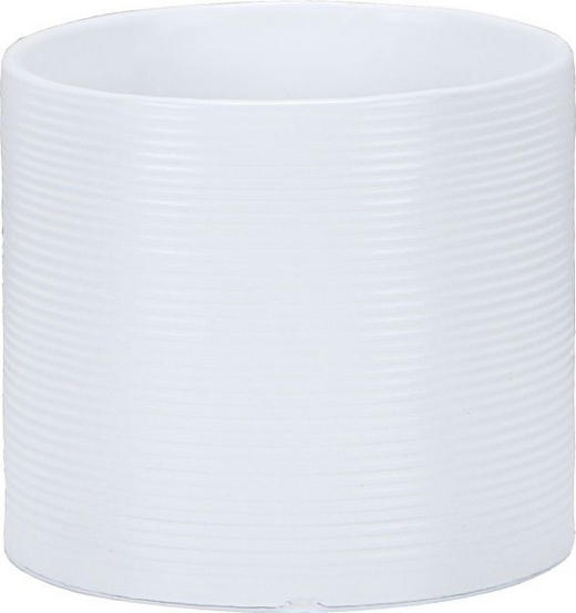 ÜBERTOPF - Weiß, Basics, Keramik (12/12/10.8cm)